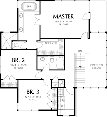 Jack And Jill House Plans Prairie Style House Plan 4 Beds 3 5 Baths 3651 Sq Ft Plan 48