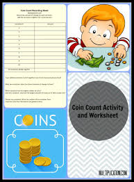 coin count activity u0026 worksheet multiplication com