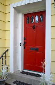 Comment Peindre Une Porte Dentrée Principale Front Doors - Red door furniture