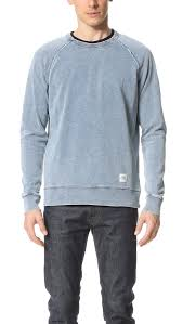 cheap monday rules denim sweatshirt in blue for men lyst