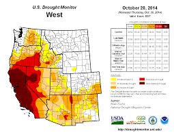 Map Of The Western United States Drought April 2016 State Of The Climate National Centers For