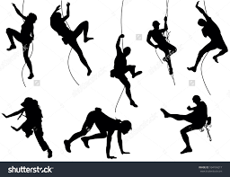 party silhouette stock vector mountain climber set 104104217 jpg 1500 1151