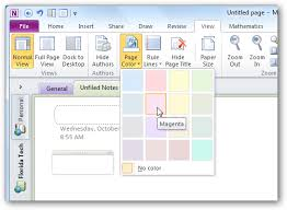 personalize your onenote 2010 notebooks with backgrounds and more