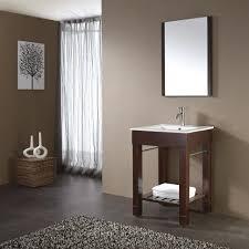 Wood Tile Bathroom Floor by Bathroom Spectacular Wooden Console Single Sink Bathroom