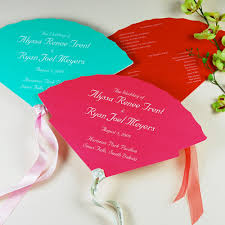 fan shaped wedding programs choosing the fan style of your wedding programs