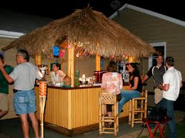 Plans For Building A Wooden Patio Table by How To Build A Tiki Bar With A Thatched Roof Hgtv