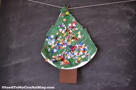 paper plate christmas tree kid craft
