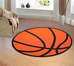Orange Kids Rug Amazon Com Furnishmyplace Basketball Round Kids Rug Size 3 U00273