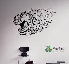compare prices on baseball wall murals online shopping buy low removable baseball vinyl decal burning ball wall sticker sport home bedroom decor art vinyl murals diy