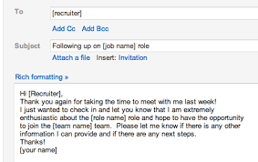 best solutions of sample follow up email to recruiter after phone