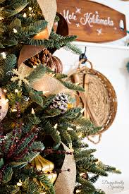 christmas tree themes rustic luxe christmas tree 12 bloggers of christmas with balsam