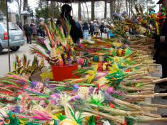 palm sunday palms for sale palm sunday in łyse poland jo spencer s travel blogs