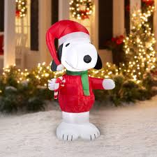 Christmas Yard Decorations Peanuts by Snoopy Inflatable Christmas Yard Decorations Fun Holiday Decor