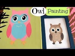 Owl Room Decor Diy Owl Room Decor Wall Art Owl Doodle Painting How To Youtube