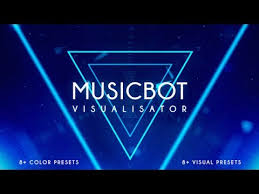 musicbot visualisator and audio react after effects template