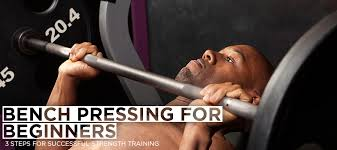 Correct Technique For Bench Press Bench Pressing For Beginners 3 Steps For Successful Strength