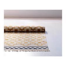 alvine ruta rug flatwoven white yellow handmade white yellow