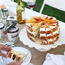 amaretto peach layer cake u2022 marina delio