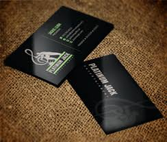 Business Card Music Entertainment Business Card Design Galleries For Inspiration