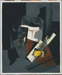 Picasso Still Life With Chair Caning 1912 Juan Gris Still Life With Newspaper 1916 Artsy