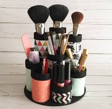 Makeup Organizer Desk by 3 Organizing Hacks Using Recycled Materials Cathie Filian
