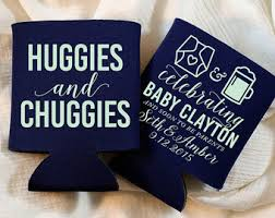 baby shower koozies huggies and chuggies etsy