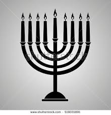 shabbat menorah happy hanukkah hanukkah menorah stock vector