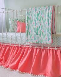 girls cactus nursery baby bedding u0026 decor for girls lottie da baby