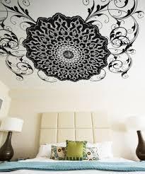 vinyl wall decal sticker arabic flower circle design os aa347