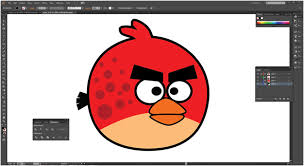 draw angry bird illustrator tutorial bone yard