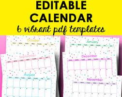 monthly calendar printable editable template calendar 2018
