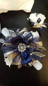 Corsages And Boutonnieres For Prom Navy Blue And Silver Prom Corsage From Hen House Designs Www
