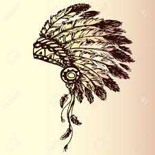 native american indian chief headdress indian chief mascot