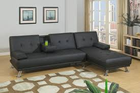adjustable sectional sofa poundex f7843 black faux leather adjustable sectional sofa bed