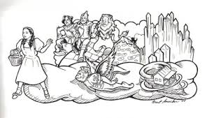 Get This Free Simple Wizard Of Oz Coloring Pages For Children Cm3xv Wizard Of Oz Coloring Pages