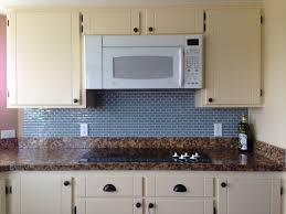 Modern Kitchen Backsplash Tile Amusing Kitchenette With Dark Granite Countertop Also Blue Modern