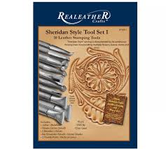 realeather sheridan style carving tools set i for beginner and