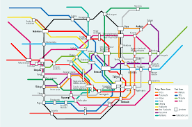 Santiago Metro Map by How To Move Around In Japan