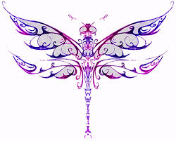 colorful celtic dragonfly tattoo design