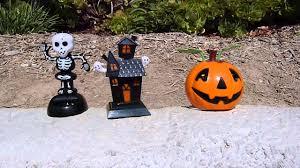 happy halloween solar dacing pumpkin skeleton haunted house