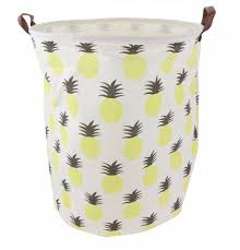 laundry hamper canvas large canvas storage toy or laundry basket pineapple angus