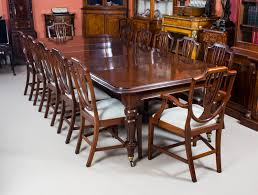 antique victorian mahogany dining table 10 shieldback chairs