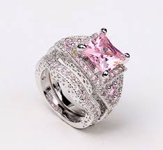 vancaro wedding rings vancaro pink and black wedding ring set wedding rings model