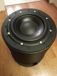 home theater sub amp just finished my home depot 5 gallon bucket subwoofer large