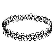 black tattoo necklace images 3 x black tattoo choker necklace vintage stretch jpg
