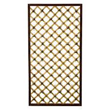 all things cedar classic 1 75 ft cedar wood lattice trellis kit