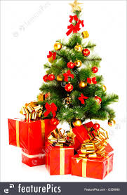 christmas tree and presents christmas lights decoration
