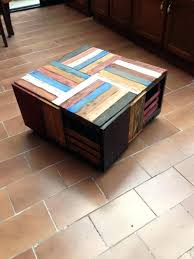 shipping crate coffee table recycled wood crates recycled crates drawer reclaimed wood crate