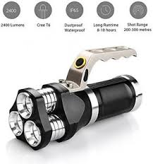 le torche cree rechargeable led tactical flashlight 2400 lumens cree t6 led torch