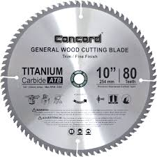 Circular Saw Blade For Laminate Flooring Concord Blades Wcb1000t080hp 10 Inch 80 Teeth Tct General Purpose